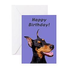 Doberman Pinscher Birthday Card