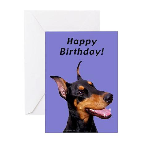 Doberman Pinscher Birthday Card Greeting Cards