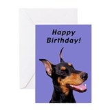 Doberman birthday Greeting Cards