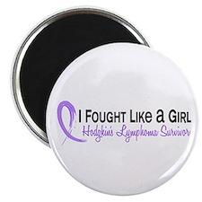 Fought Like A Girl Hodgkin's Lymphoma Magnet