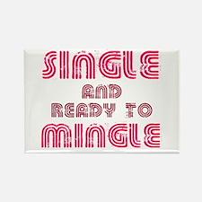 Single Mingle Rectangle Magnet