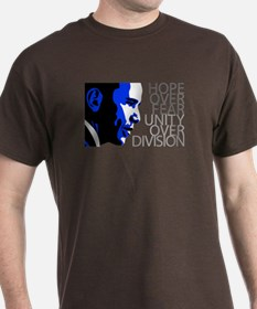Obama - Hope Over Fear - Blue T-Shirt