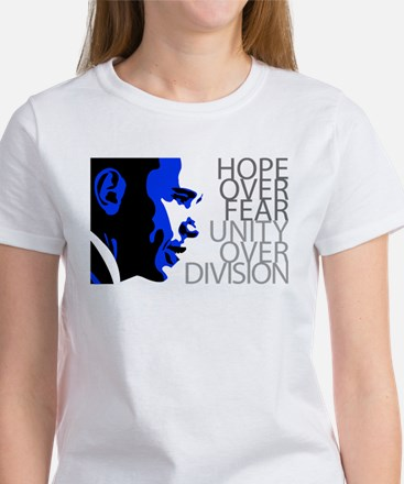 Obama - Hope Over Fear - Blue Women's T-Shirt