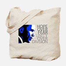 Obama - Hope Over Fear - Blue Tote Bag