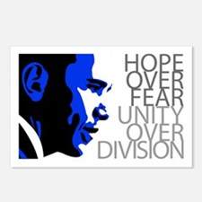 Obama - Hope Over Fear - Blue Postcards (Package o
