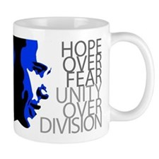Obama - Hope Over Fear - Blue Mug