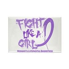 Fight Like A Girl Hodgkin's Lymphoma Rectangle Mag
