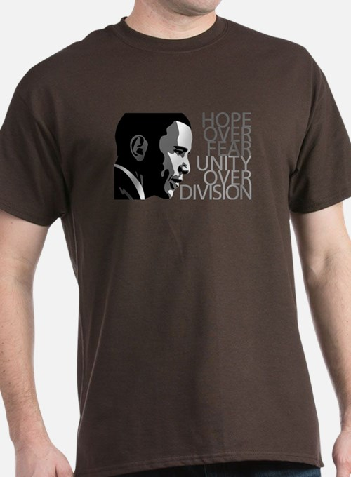 Obama - Hope Over Fear - Grey T-Shirt