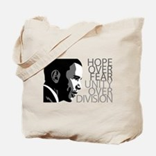 Obama - Hope Over Fear - Grey Tote Bag