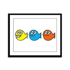 3 fishies Framed Panel Print