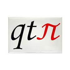 qt pi Rectangle Magnet (10 pack)