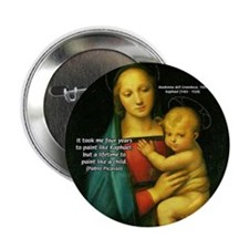 """Raphael Madonna Painting 2.25"""" Button (10 pack)"""