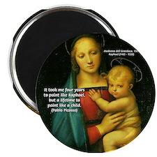 Raphael Madonna Painting Magnet