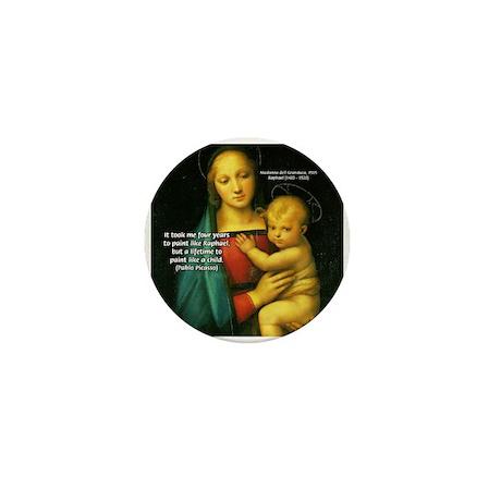 Raphael Madonna Painting Mini Button (10 pack)