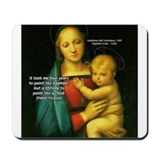 Raphael Madonna Painting Mousepad