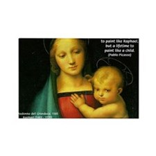 Raphael Madonna Painting Rectangle Magnet