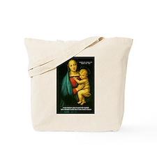 Raphael Madonna Painting Tote Bag