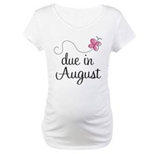 August Due Date Butterfly Shirt