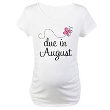 August Due Date Butterfly Shirt