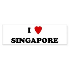 I Love Singapore Bumper Bumper Sticker