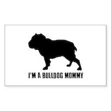 i m a bulldog mommy Decal