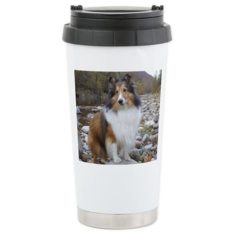 Sable Sheltie Hiker Stainless Steel Travel Mug