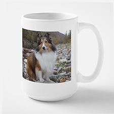 Sable Sheltie Hiker Large Mug