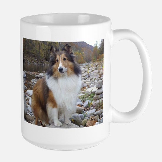 Sable Sheltie Hiker Large Mug