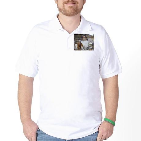 Sable Sheltie Hiker Golf Shirt