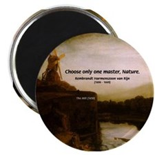 Rembrandt Painting & Quote Magnet