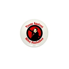 Texas Against Mike Huckabee small pin