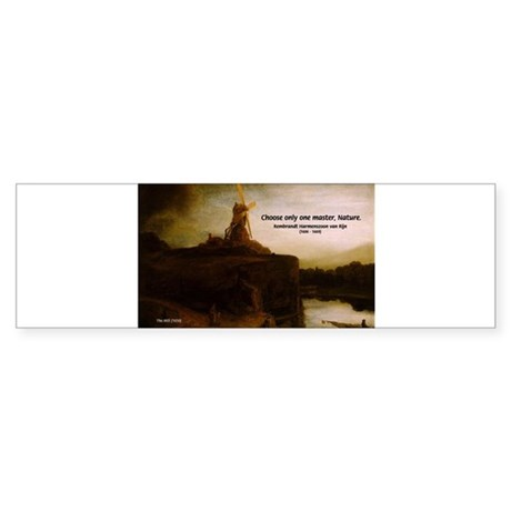 Rembrandt Painting & Quote Bumper Sticker