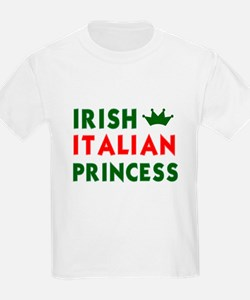 Irish Italian Princess Kids T-Shirt