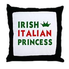 Irish Italian Princess Throw Pillow