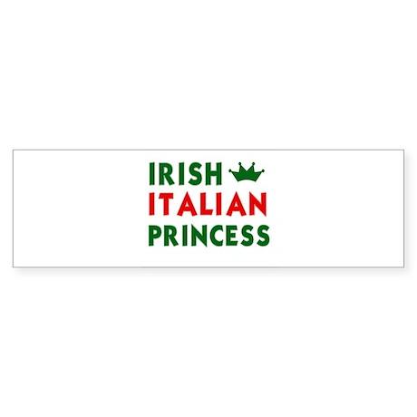 Irish Italian Princess Bumper Sticker
