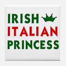 Irish Italian Princess Tile Coaster