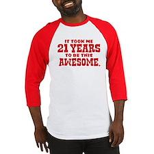 Funny 21st Birthday Baseball Jersey