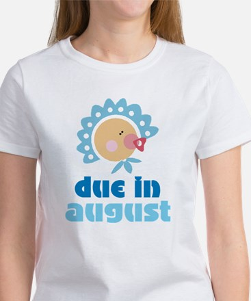 Cute Blue August Baby Quote Women's T-Shirt