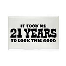 Funny 21st Birthday Rectangle Magnet