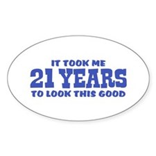 Funny 21st Birthday Decal