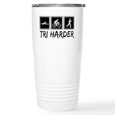 Tri Harder (Thiathlon) Travel Coffee Mug