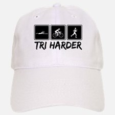 Tri Harder (Thiathlon) Baseball Baseball Cap