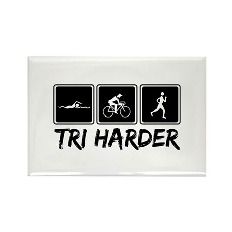 Tri Harder (Thiathlon) Rectangle Magnet