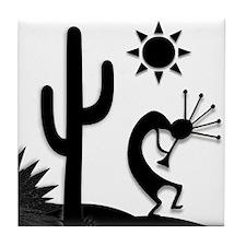 Silhouette Kokopelli Tile Coaster