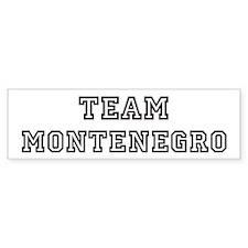 Team Montenegro Bumper Bumper Sticker