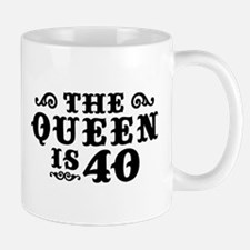 The Queen is 40 Mug