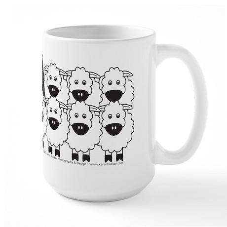 Bouvier and Sheep Large Mug
