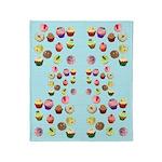 Polka Dot Cupcakes Throw Blanket
