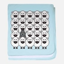 Bouvier and Sheep baby blanket