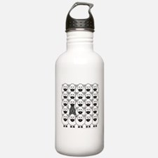 Bouvier and Sheep Water Bottle